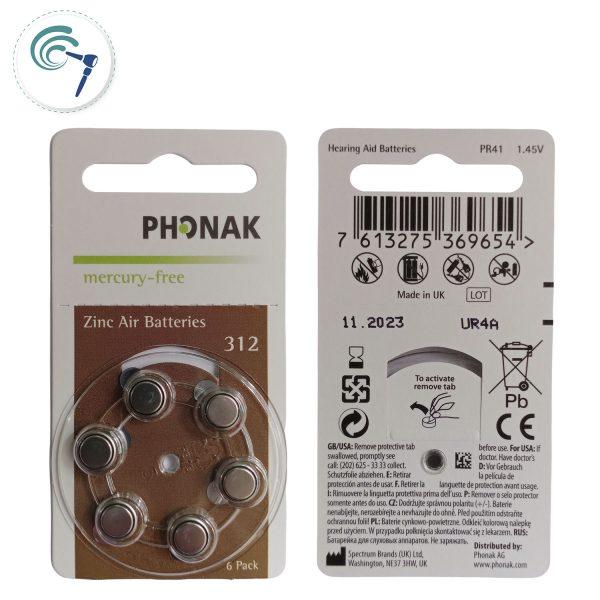 Pilas para audífonos Phonak